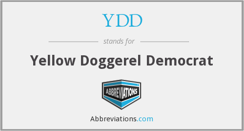 YDD - Yellow Doggerel Democrat