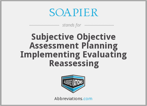 What does SOAPIER stand for?