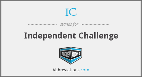 IC - Independent Challenge