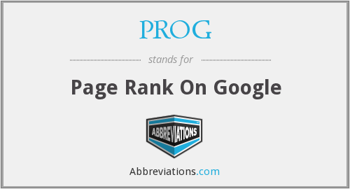 PROG - Page Rank On Google