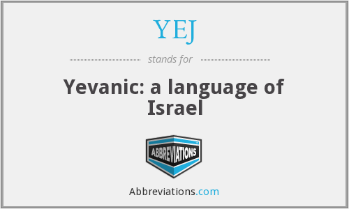 What does YEJ stand for?