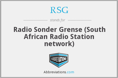 RSG - Radio Sonder Grense (South African Radio Station network)