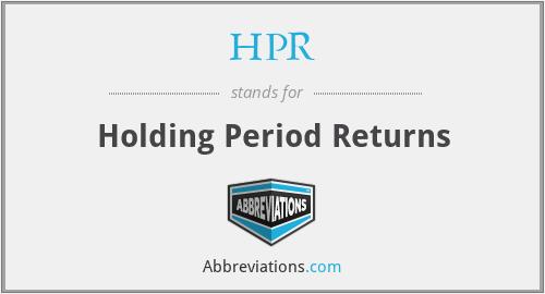 HPR - Holding Period Returns
