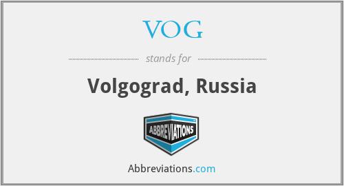 VOG - Volgograd, Russia