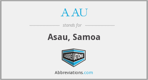 AAU - Asau, Samoa
