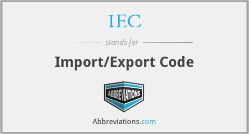 IEC - Import/Export Code