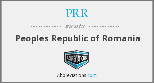 PRR - Peoples Republic of Romania