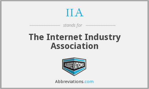 IIA - The Internet Industry Association