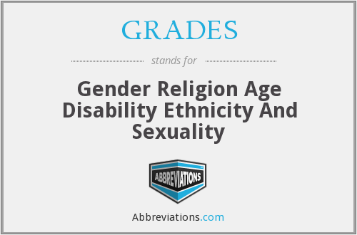 GRADES - Gender Religion Age Disability Ethnicity And Sexuality