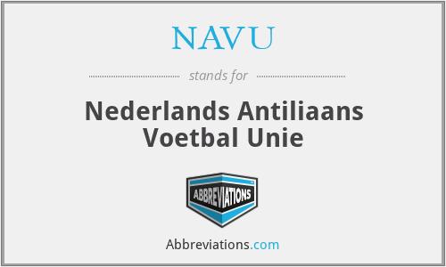 NAVU - Nederlands Antiliaans Voetbal Unie
