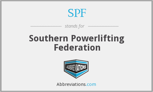 SPF - Southern Powerlifting Federation