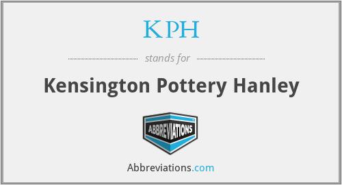KPH - Kensington Pottery Hanley
