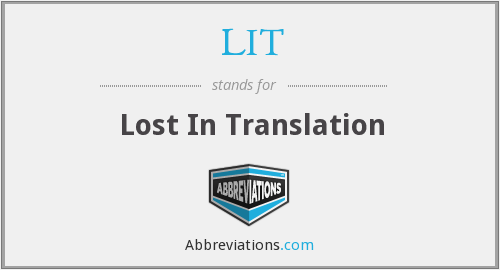 LIT - Lost In Translation