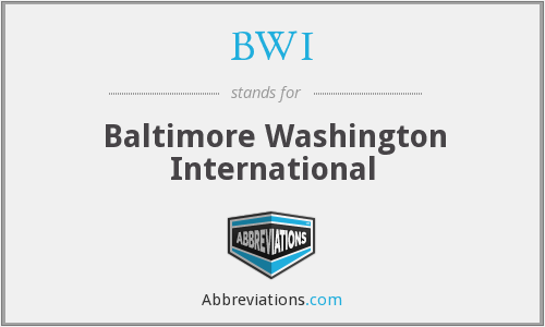 BWI - Baltimore Washington International