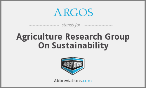 ARGOS - Agriculture Research Group On Sustainability