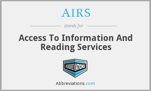 AIRS - Access To Information And Reading Services