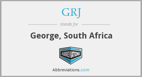 GRJ - George, South Africa