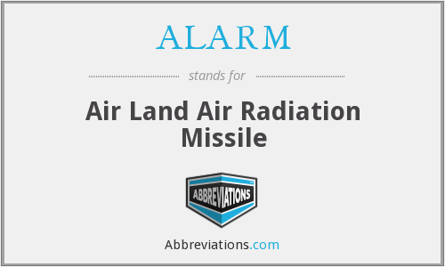 ALARM - Air Land Air Radiation Missile