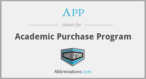 APP - Academic Purchase Program