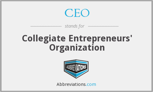 CEO - Collegiate Entrepreneurs' Organization