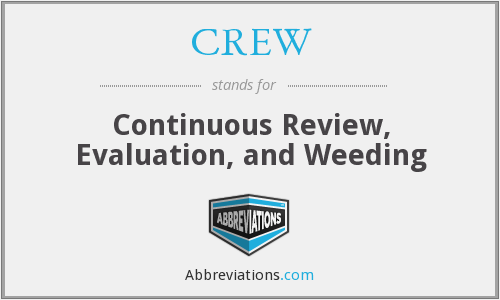 What does CREW stand for?