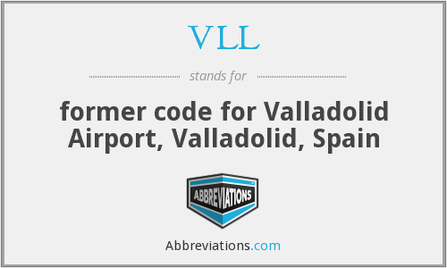 VLL - former code for Valladolid Airport, Valladolid, Spain