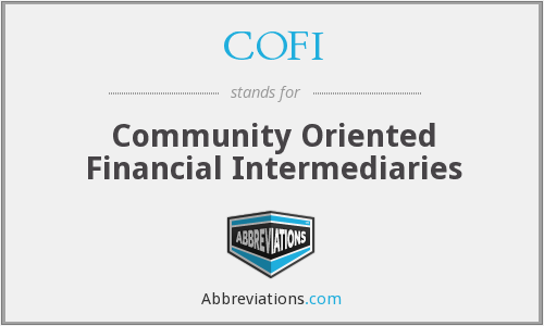 COFI - Community Oriented Financial Intermediaries