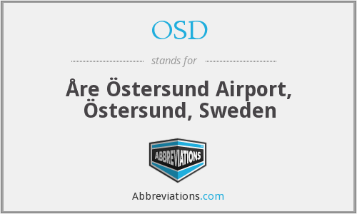 OSD - Åre Östersund Airport, Östersund, Sweden