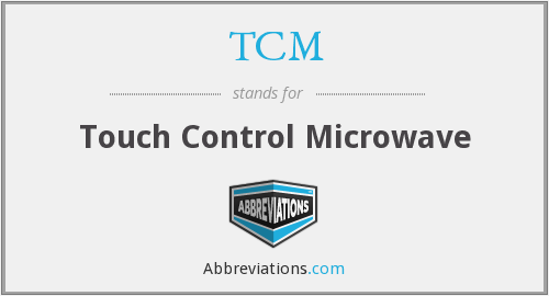 TCM - Touch Control Microwave