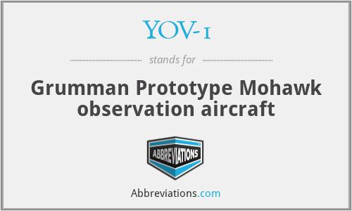 YOV-1 - Grumman Prototype Mohawk observation aircraft