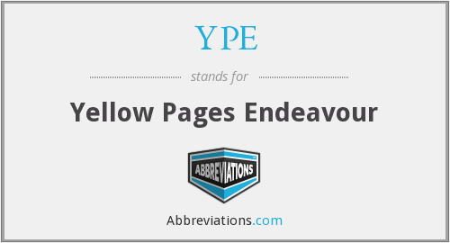 YPE - Yellow Pages Endeavour