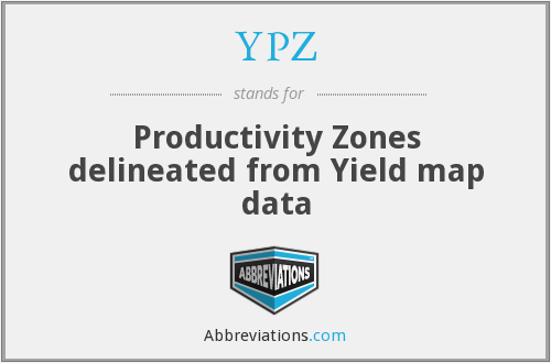 YPZ - Productivity Zones delineated from Yield map data