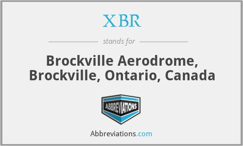 XBR - Brockville Aerodrome, Brockville, Ontario, Canada