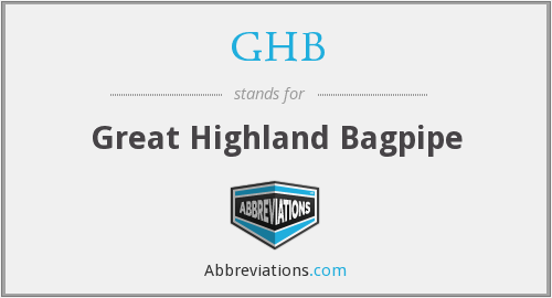 GHB - Great Highland Bagpipe