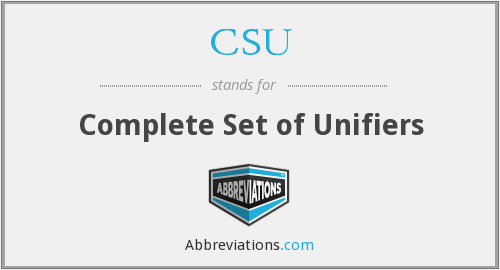 CSU - Complete Set of Unifiers