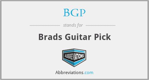 BGP - Brads Guitar Pick