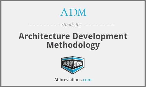 ADM - Architecture Development Methodology