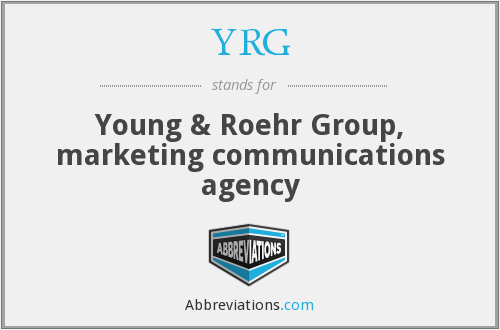 YRG - Young & Roehr Group, marketing communications agency