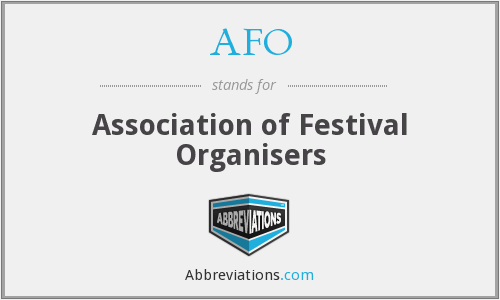 AFO - Association of Festival Organisers