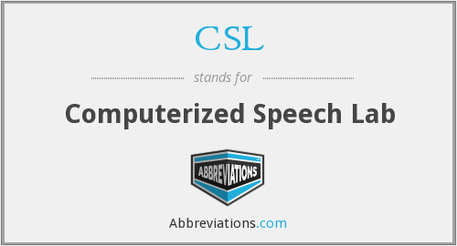 CSL - Computerized Speech Lab