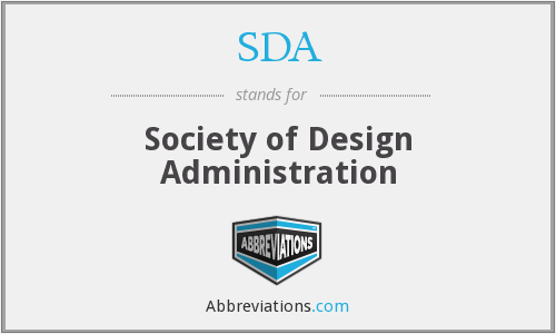 SDA - Society of Design Administration