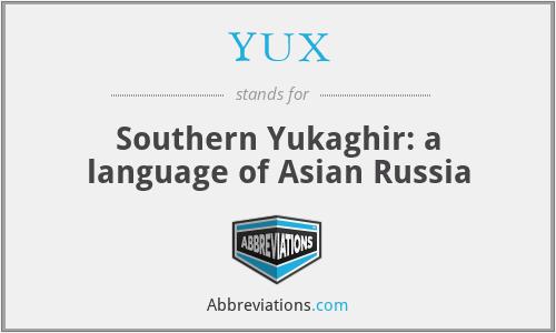 YUX - Southern Yukaghir: a language of Asian Russia