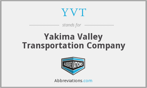 YVT - Yakima Valley Transportation Company