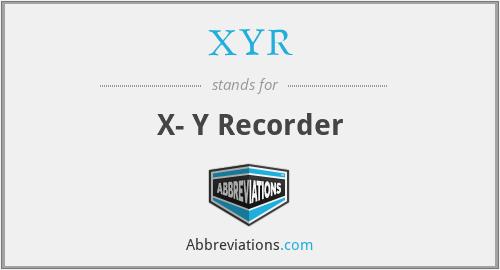 XYR - X- Y Recorder