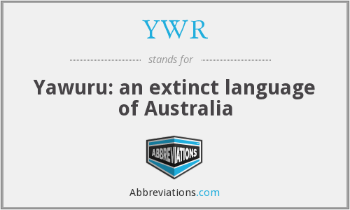 YWR - Yawuru: an extinct language of Australia