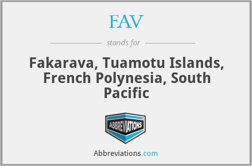 FAV - Fakarava, Tuamotu Islands, French Polynesia, South Pacific