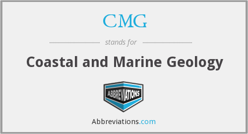 CMG - Coastal and Marine Geology