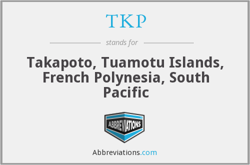TKP - Takapoto, Tuamotu Islands, French Polynesia, South Pacific