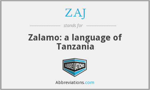 ZAJ - Zalamo: a language of Tanzania