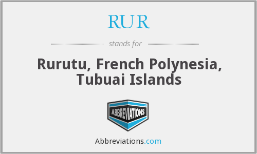 RUR - Rurutu, French Polynesia, Tubuai Islands